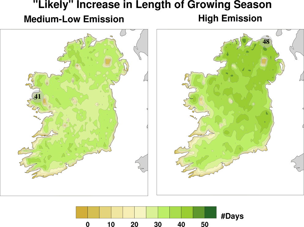Climate Change effects on agriculture in Ireland