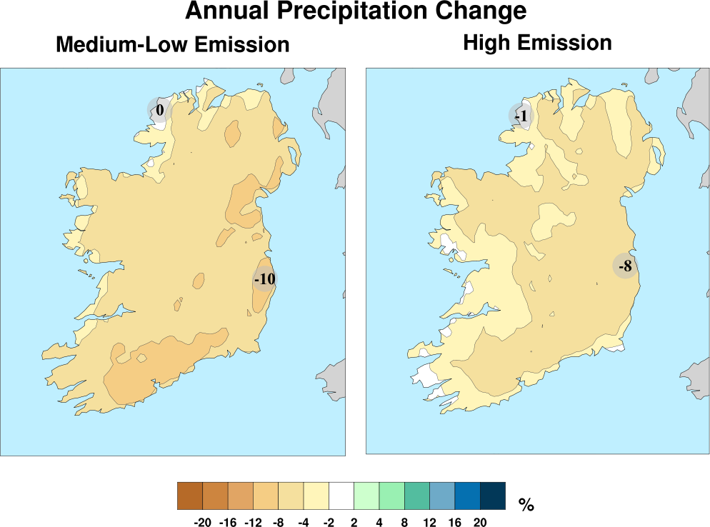 Climate Change, Rainfall Ireland