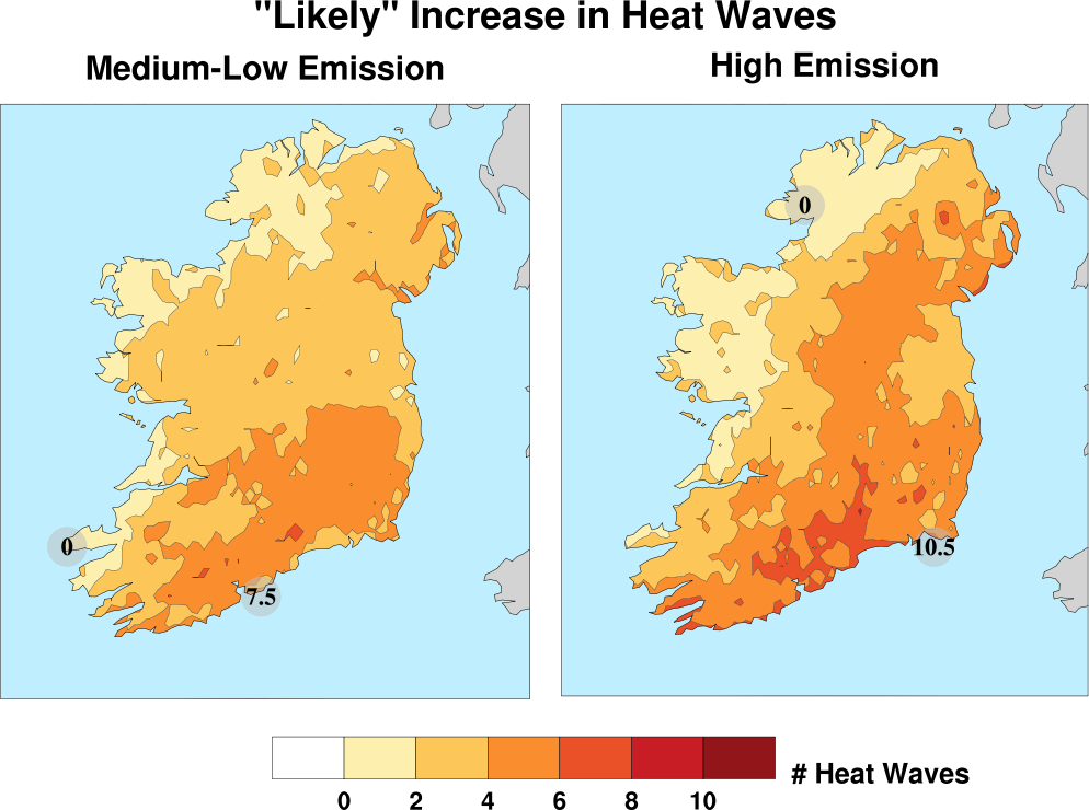 Climate Change Heat Waves, Ireland