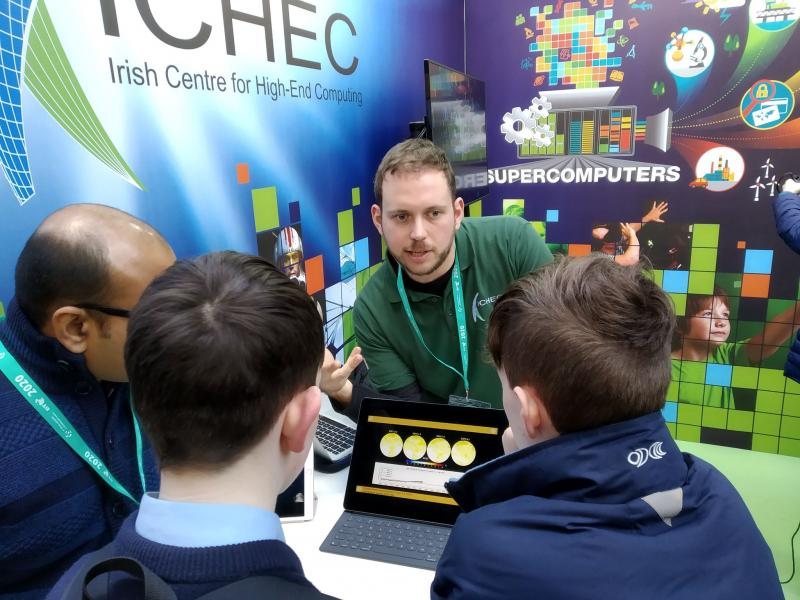 Each year ICHEC is proud to host a stand at the BT Young Scientist Exhibition
